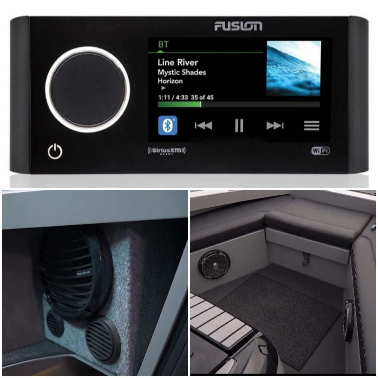 Аудиосистема Fusion, вкл. 6 динамиков и сабвуфер