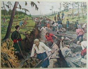 Прорытие Ладожского канала